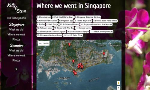 HONEYMOON WEBSITE - WHERE WE WENT IN SINGAPORE