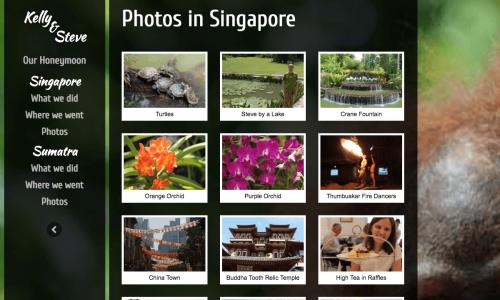HONEYMOON WEBSITE - PHOTOS IN SINGAPORE