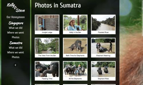 HONEYMOON WEBSITE - PHOTOS IN SUMATRA